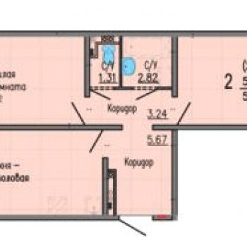 ЖК Мичуринский (Екатеринбург) – планировка №5