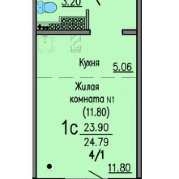 ЖК Мичуринский (Екатеринбург) – планировка №1