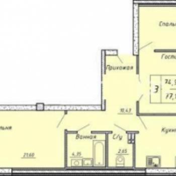 Дом на ул. Сакко и Ванцетти (Екатеринбург) – планировка №1