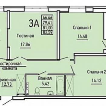 ЖК Облака (Екатеринбург) – планировка №1