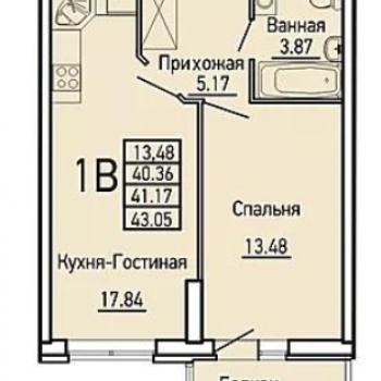 ЖК Облака (Екатеринбург) – планировка №2
