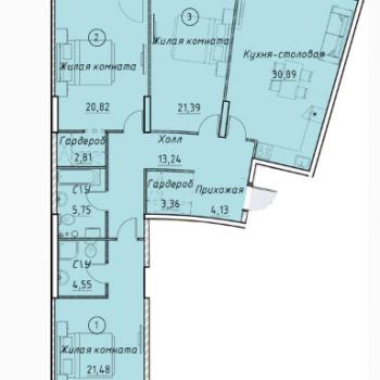 ЖК Клевер Парк (Екатеринбург) – планировка №23