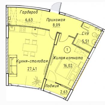 ЖК Клевер Парк (Екатеринбург) – планировка №6