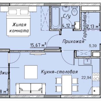 ЖК Клевер Парк (Екатеринбург) – планировка №4