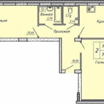 ЖК Гелиос (Екатеринбург) – планировка №1