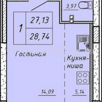 ЖК Гелиос (Екатеринбург) – планировка №3