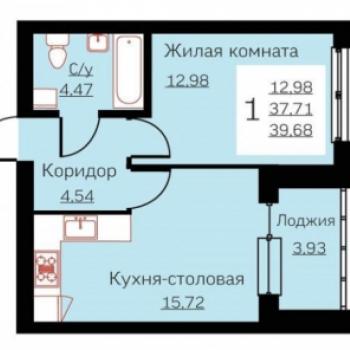 ЖК Ольховский Парк (Екатеринбург) – планировка №4