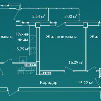 ЖК Новая Ботаника (Екатеринбург) – планировка №9