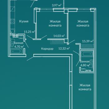ЖК Новая Ботаника (Екатеринбург) – планировка №8