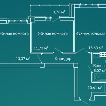 ЖК Новая Ботаника (Екатеринбург) – планировка №7