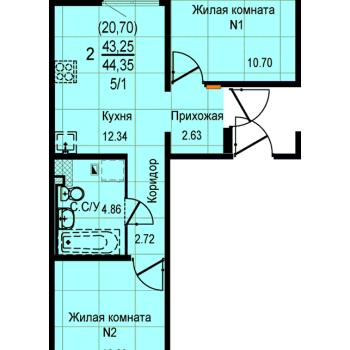 ЖК Меридиан (Екатеринбург) – планировка №12