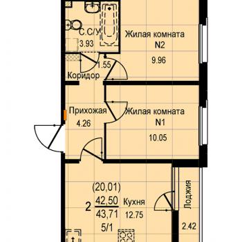 ЖК Меридиан (Екатеринбург) – планировка №11