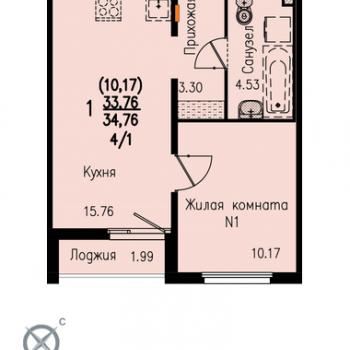 ЖК Меридиан (Екатеринбург) – планировка №4