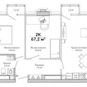 Клубный дом Эверест (Екатеринбург) – планировка №3