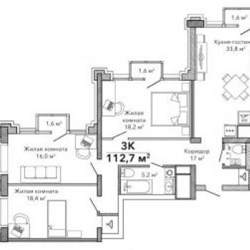 Клубный дом Эверест (Екатеринбург) – планировка №5