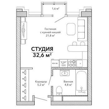 Клубный дом Эверест (Екатеринбург) – планировка №1