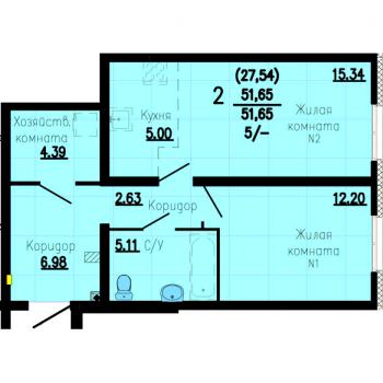 ЖК Флагман (Екатеринбург) – планировка №5