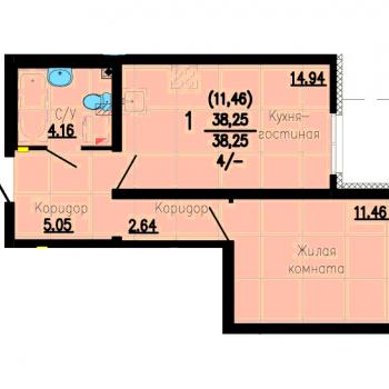 ЖК Флагман (Екатеринбург) – планировка №3