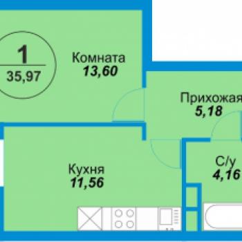 ЖК Альпы (Екатеринбург) – планировка №2