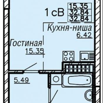 ЖК Монблан (Екатеринбург) – планировка №5