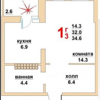 ЖК Успенский (Екатеринбург) – планировка №3