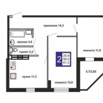 ЖК Маэстро (Екатеринбург) – планировка №1