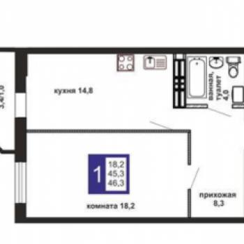 ЖК Маэстро (Екатеринбург) – планировка №2