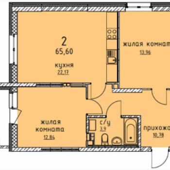 ЖК Гольфстрим (Екатеринбург) – планировка №6