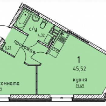 ЖК Гольфстрим (Екатеринбург) – планировка №5