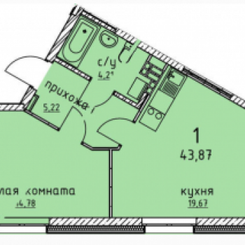 ЖК Гольфстрим (Екатеринбург) – планировка №10