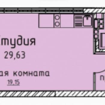 ЖК Гольфстрим (Екатеринбург) – планировка №3