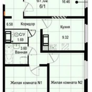ЖК Восход (Екатеринбург) – планировка №4