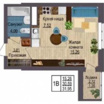 ЖК Квартет (Екатеринбург) – планировка №3