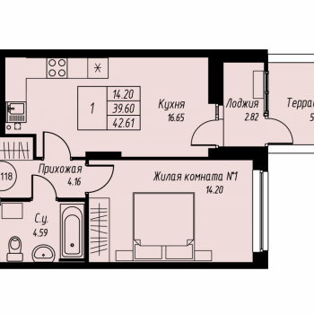 ЖК «Мельница» (Екатеринбург) – планировка №21