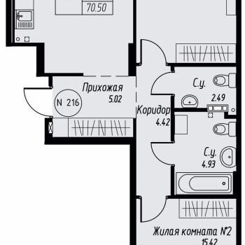 ЖК «Мельница» (Екатеринбург) – планировка №19