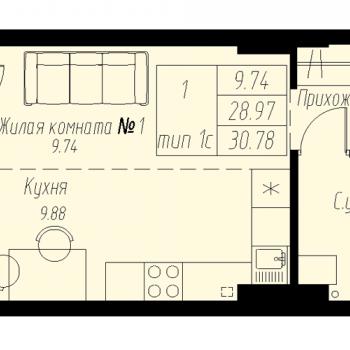 ЖК «Мельница» (Екатеринбург) – планировка №11