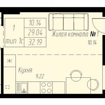ЖК «Мельница» (Екатеринбург) – планировка №7