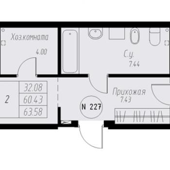ЖК «Мельница» (Екатеринбург) – планировка №2