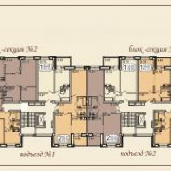 Клубный дом на Звездинской (Иркутск) – планировка №1
