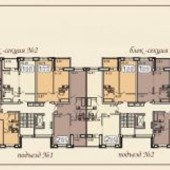 Клубный дом на Звездинской (Иркутск) – планировка №2
