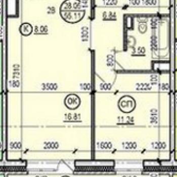 Жилой дом на ул. Радищева (Иркутск) – планировка №2