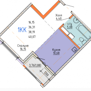 ЖК Стрижи сити (Иркутск) – планировка №2