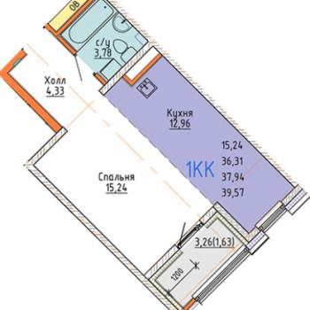 ЖК Стрижи сити (Иркутск) – планировка №1