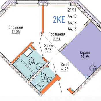 ЖК Стрижи сити (Иркутск) – планировка №12
