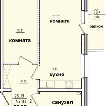 ЖК Корица (Иркутск) – планировка №1
