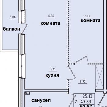 ЖК Корица (Иркутск) – планировка №11