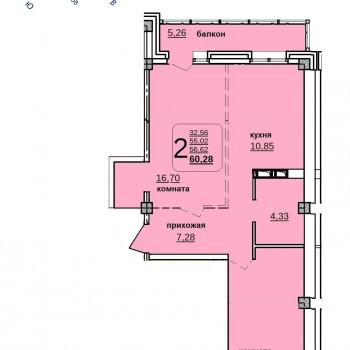 ЖК Иркутский дворик 2 (Иркутск) – планировка №2
