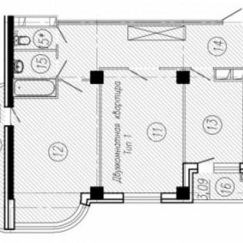 ЖК Нормандия (Иваново) – планировка №2