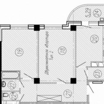 ЖК Нормандия (Иваново) – планировка №5