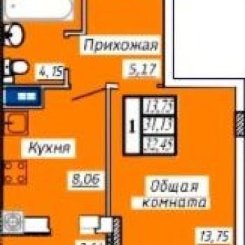 ЖК Алмаз (Иваново) – планировка №1